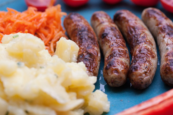 Nurnberger bratwurst