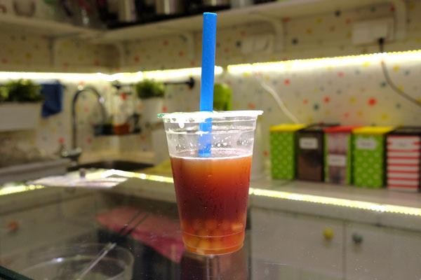 Voćni čaj sa perlicama od pomorandže