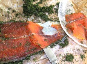 Marinirani losos - gravlaks