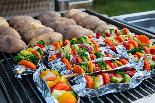 Priprema povrća u alu foliji