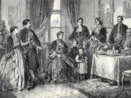 Slavljenje slave u beogradskoj porodici 1867, autor crteža Felix Kanitz